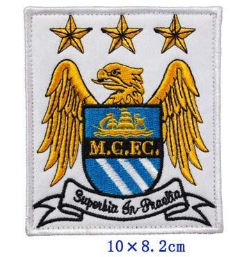 Manchester City Football Soccer Club Team Military Patch Fabric Embroidered Badges Patch Tactical Stickers for Clothes with Hook & Loop by Tactical Embroidered Patch