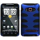 MyBat HTCEVO4GHPCSK303NP Titanium Fishbone Protective Case for HTC Evo 4G - 1 Pack - Retail Packaging - Dark Blue/Black