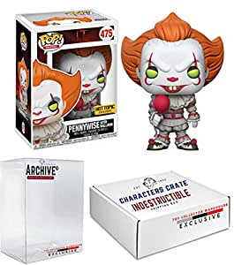 Funko Pop! IT Pennywise With Balloon, Limited Edition Exclusive, Concierge Collectors Bundle Vinyl Figure