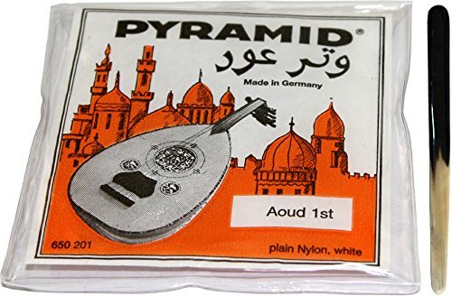 Pyramid String Set (11 strings) + First Class Cow Horn Oud Reeshe / Plectrum / Pick (One Plectrum) by Pyramid Time Systems