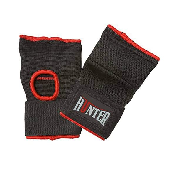 Hunter Padded Inner Gloves Training Gel Elastic Hand Wraps for Boxing Gloves Quick Wraps Men & Women Kickboxing Muay Thai MMA Bandages Fist Knuckle Wrist Wrap Protector Handwraps (Pair) 4