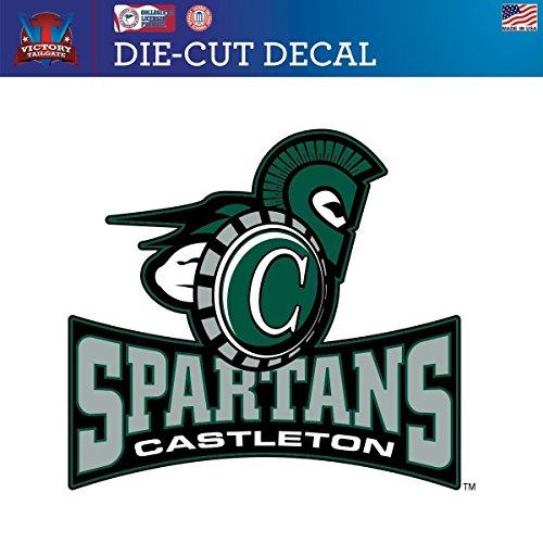 Victory Tailgate Castleton State Spartans Die-Cut Vinyl Decal Logo 2(Approx 12x12)