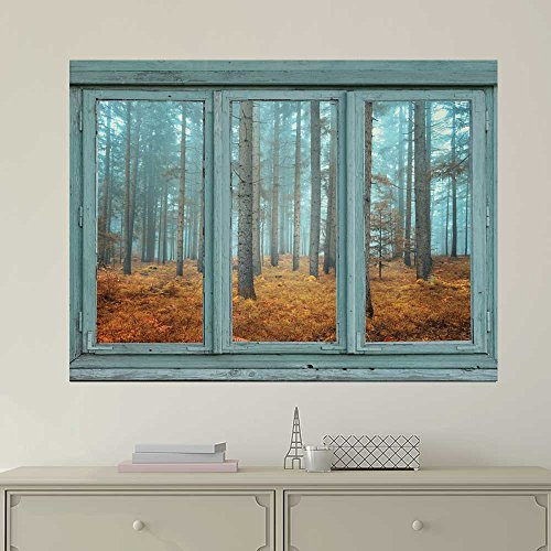 Wallpaper Large Wall Mural Series ( Blue Foggy Forest 2)