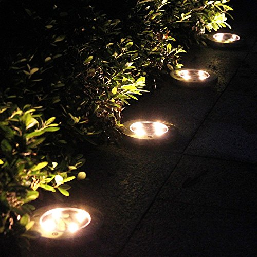 Outdoor Patio Ground Lights: Tomshine 4Pcs 4 LED Solar Lights Outdoor Ground Lights
