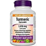 Webber Naturals Turmeric, 600mg, 120 Count