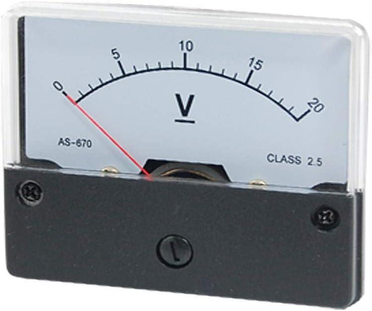 id:8f4 30 fd 5ec New Lon0167 M/ètre de En vedette panneau YS-670 efficacit/é fiable de voltm/ètre analogique de tension rectangulaire de 0-20V CC