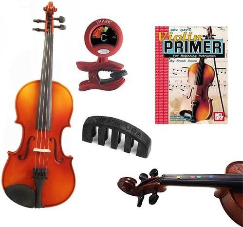 knilling Europa 3/4 tamaño Violin Outfit (3 K) – -con dedo ...