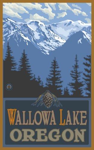 Northwest Art Mall Wallowa Lake Oregon Snowy Mountain Ridges Unframed Prints by Paul A
