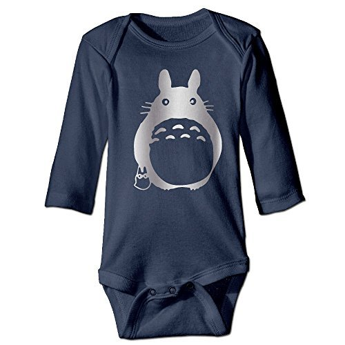 Boy's Girl's Totoro Black Cartoon Long Sleeves Romper Jumpsuit
