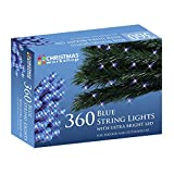 The Christmas Workshop 360 LED String Lights, Blue