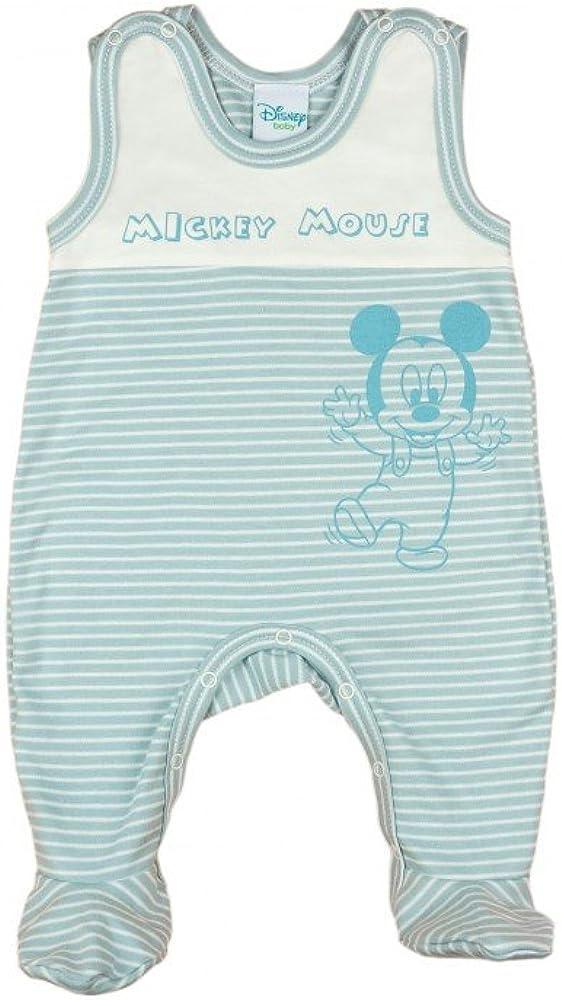 68 62 Spiel-Anzug Baby-Schlafanzug /ÄRMELLOS mit Druck-Kn/öpfen Einteiler mit F/ü/ßchen Jungen Baby-Strampler Bio-Baumwolle von Mickey Mouse in GR/ÖSSE 50 56 Wanzi