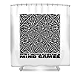 Pixels Shower Curtain (74'' x 71'') ''Mind Games 61se 2''
