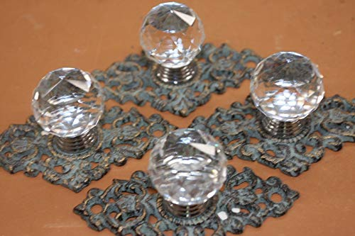 Southern Metal Elegant Crystal Knobs Bronze-Look Backplate, Set of 4 HW-62 ()