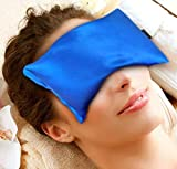 Facial Nerve Infection - Karmick Hot Cold Eye Mask, Blue, Lavender and Flax Seed Filled