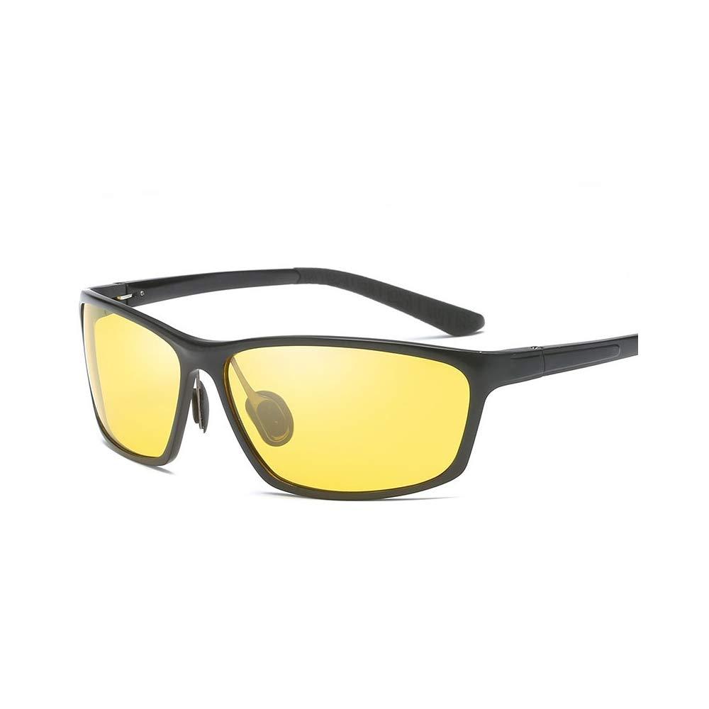 AZSXDC Quality Night Vision Glasses Men Aluminium Magnesium Frame Polarized Goggles for Car Driver Driving Sports Anti Glare UV400 by AZSXDC