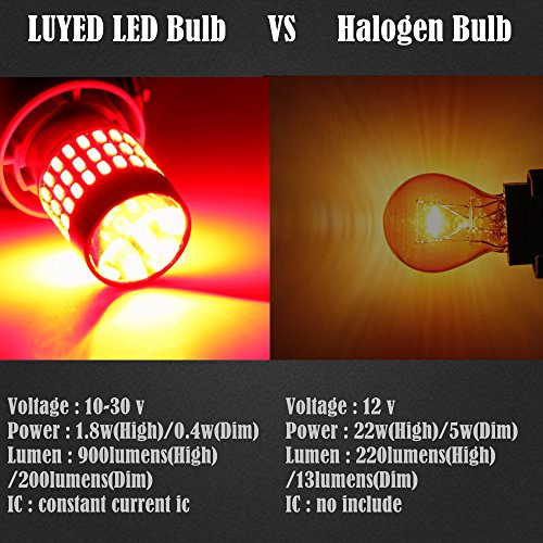 LUYED-2-X-900-Lumens-Super-Bright-3014-78-EX-Chipsets-3056-3156-3057-3157-LED-Bulbs-Used-For-Brake-LightsTail-LightsRed