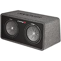 Kicker 10 1600W 2-Ohm Vented Dual Loaded Car Enclosure Subwoofers | 40DCWR102