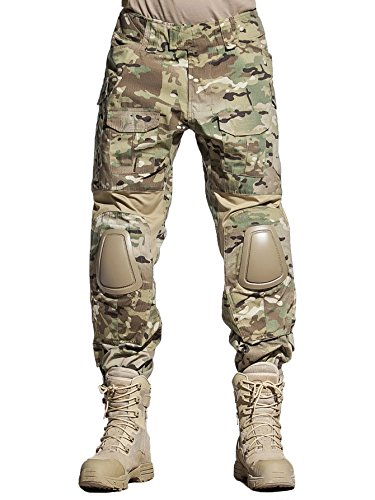 EMERSONGEAR Tactical Camouflage Pants With Knee Pads Military Combat Trousers Army For Airsoft Paintball MC XXL by EMERSONGEAR