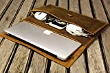 Handmade leather macbook sleeve case for new macbook 12 / macbook air 11 13 / macbook pro retina case/leather laptop case bag - MACX05S-B