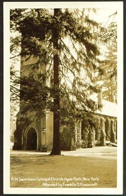 St James Episcopal Hyde Park NY RPPC 1940s