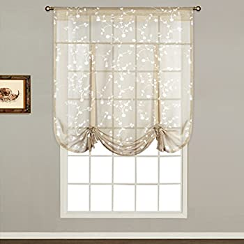 Superb United Curtain Savannah Tie Up Shade, 40 By 63 Inch, Taupe