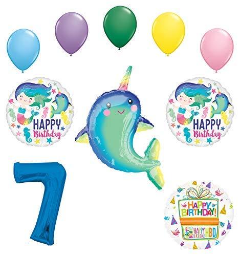 Mayflower Products ナクジラパーティー用品 7歳の誕生日 マーメイド バルーン ブーケ デコレーション   B07NDPGSQP