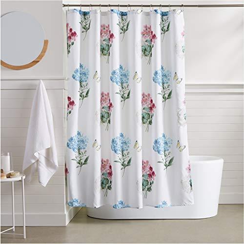 AmazonBasics Wildflower Shower Curtain - 72 Inch
