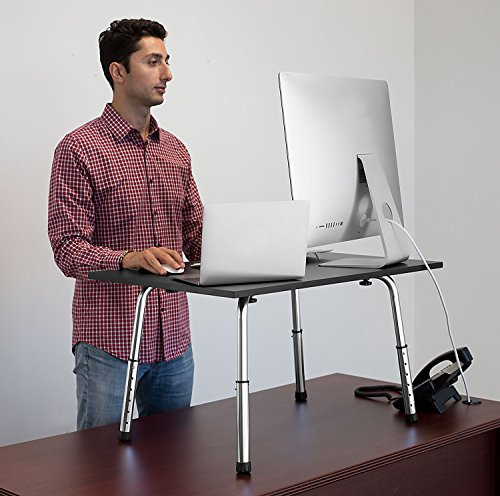 Mount-It ! Standing Desk Height Adjustable Tabletop Standing Desk Converter, 32x22