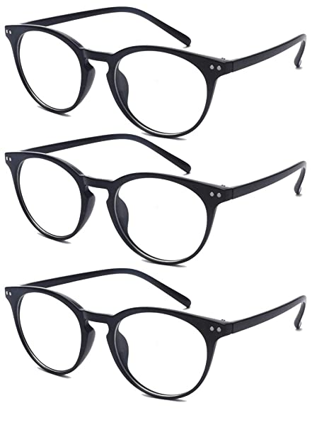 2fd72abe4679 Amazon.com: Outray 3 Pairs Reading Glasses - Standard Fit Spring Hinge  Readers Glasses for Men and Women: Clothing