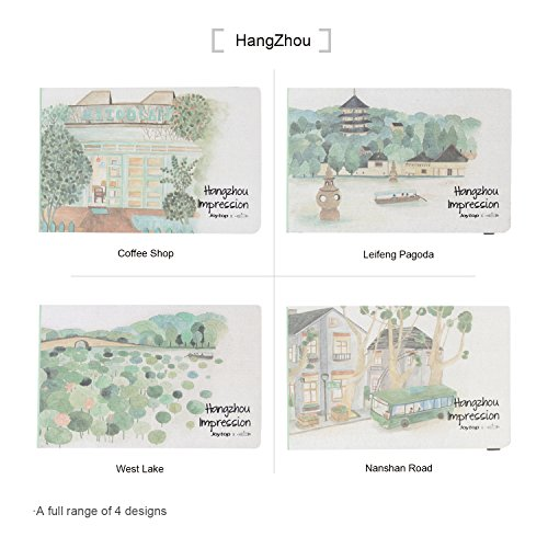 Joytop Hardcover Drawing Memory Sketchbook Traveling Gift Notebook Art Collection with Unique Impression Illustration,Hangzhou,Pack of - In Commerce Target
