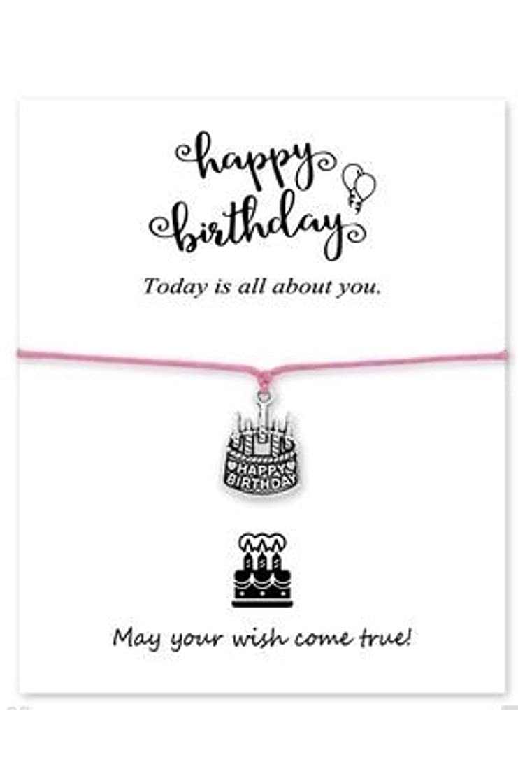 Happy Birthday Bracelet - Rhinestone Cake Charm - The Perfect Birthday Gift eUnique