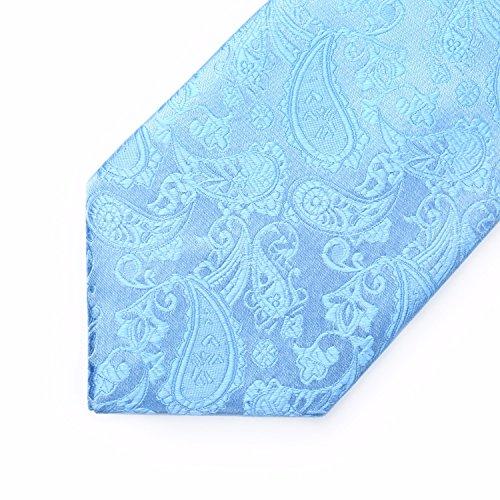 BIYINI Tie Men's Square amp; Paisley Handkerchief Blue Necktie Woven Pocket Classic Set prwpqx5Z
