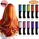 Hair Chalk for Girls Kids Christmas Gift - 10 Colorful Hair Chalk Comb Temporary Bright Hair Color for Kids,Perfect Gift for Birthday,New Year, Party,Cosplay DIY,Washable (10 Colorful)