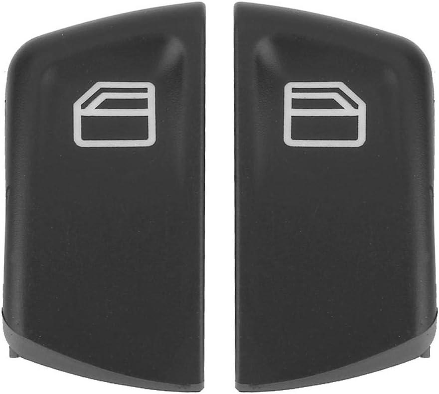 Cubierta del bot/ón del interruptor de la ventana el/éctrica para Vito Viano W639 Sprinter II 906 2003-2013 Negro 2 pcs