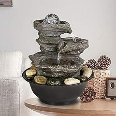 4-Tier Cascading Resin-Rock