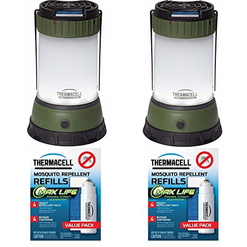 Price comparison product image ThermaCELL Mosquito Repellent Pest Control Outdoor/Camping Lanterns: Campsite 2-Pack + 4 Max Life Refill Packs + Focus Refill Case