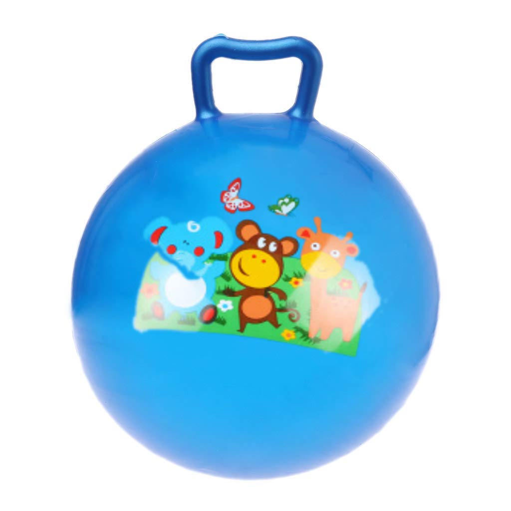 Exing 11in Inflatable Jumping Ball Hopper Rebound Retro Ball Kids Baby Toy Ball Style A