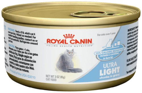 Royal Canin Feline Health Nutrition Ultralight Thin Slices in Gravy Canned Cat Food (24 Pack), 3 oz/One Size
