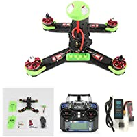 QWinOut 210 210mm Mini Quadcopter FPV Racer Drone RTF Full Set Combo with NZ32 Racing Flight Control /800TVL COMS Camera /Mushroom Antenna/ 200mW Video TX /Flysky FS-I6 Remote - Green