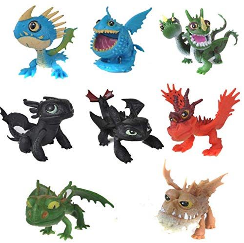 8 Piece How to Train Your Dragon Birthday Cake Toppers/ - Train Birthday Cake