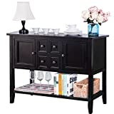 #5: Harper & Bright Designs Acacia Mangium Sideboard Console Table with Bottom Shelf (Espresso)