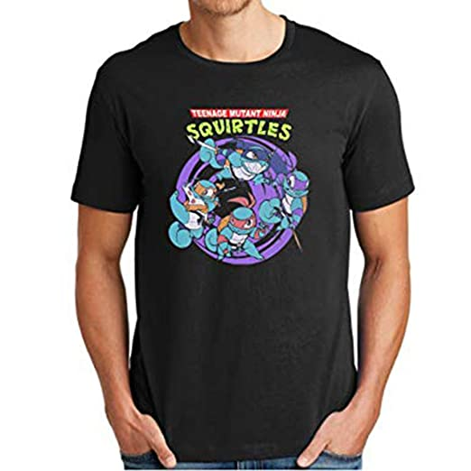 4ce461ea9d Amazon.com  Top-Tshirt Teenage Mutant Ninja Squirtles for Men T Shirt   Clothing