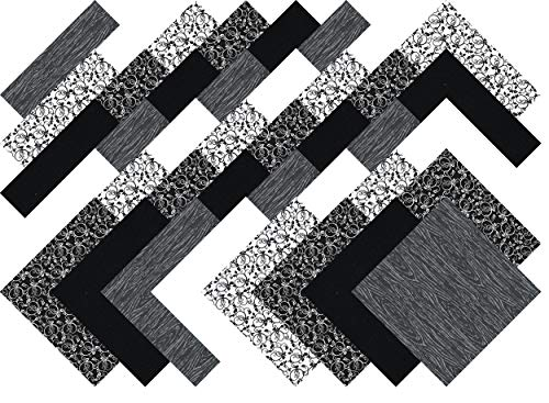 Black And White Quilting Fabric - Blacks and Whites Collection 40 Precut 5-inch Quilting Fabric Charm Squares