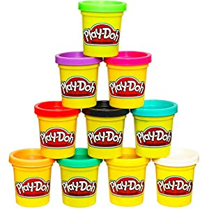 Play Doh Modeling Compound 10 Pack Case of Colors, Non Toxic, Assorted Colors, 2 Ounce Cans, Ages 2 and up, (Amazon Exclusive)