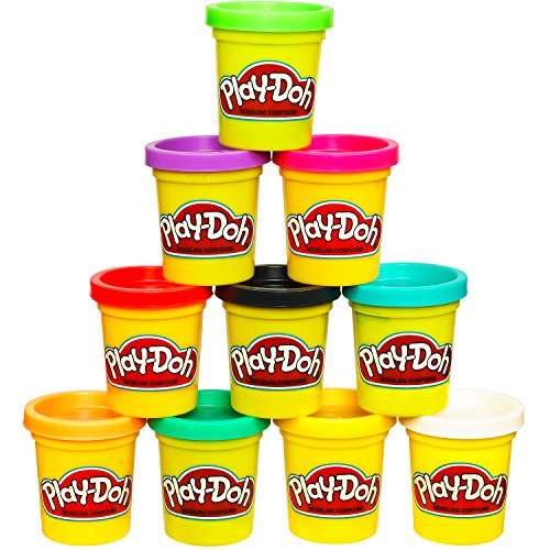 Play-Doh Modeling Compound 10-Pack Case of Colors (Amazon Exclusive), Non-Toxic, Assorted Colors, 2-Ounce - A Video Character Game Make