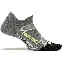 Feetures! Elite Merino+ Ultra Light No Show Tab Athletic Running Socks for Men and Women