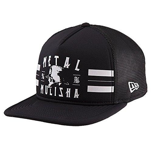 Metal Mulisha Men's New Era Trucker Snapback Logo Baseball Cap Hat, Track Black, OSFM