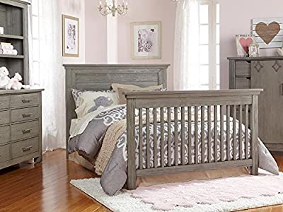 Full Size Conversion Kit Bed Rails for Dolce Babi Lucca Crib - Weathered Grey