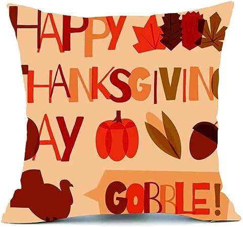 Deelin Thanksgiving Noel Halloween Imprime Rectangle 45cmx45cm Housse De Coussin Decor Taie D Oreiller Canape Taille Jeter Couverture De Coussin
