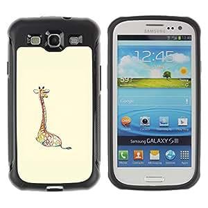 Híbridos estuche rígido plástico de protección con soporte para el SAMSUNG GALAXY S3 - giraffe beige bright animal minimalist